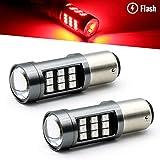 brakelight strobe module - Syneticusa 1157 Red LED Stop Brake Flash Strobe Rear Alert Safety Warning 33-LED Light Bulbs