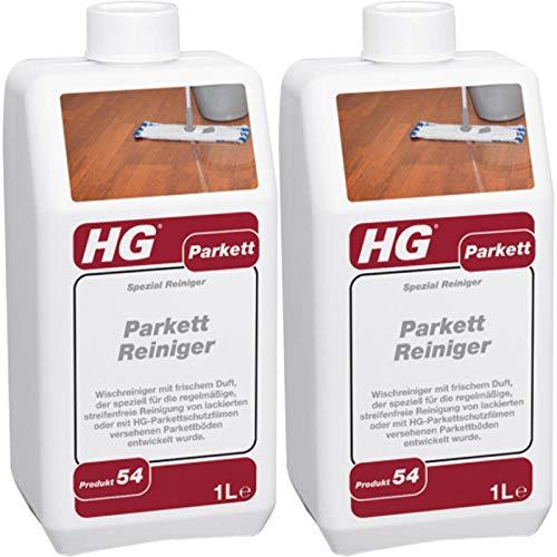 Gardopia Sparpaket: HG Parkett Reiniger 2x 1 Liter - konzentrierter Parkettreiniger zum Wischen