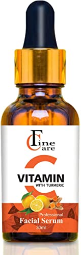 FINECARE Vitamin C Face Serum for Glowing Skin with Turmeric & Hyaluronic Acid for Radiant Skin | Skin Brightening Vi...