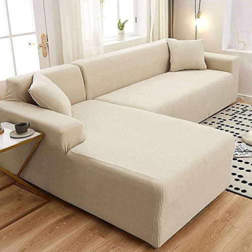 Stretch Sofa Slipcover Couch Sofa Abdeckung Wasserbeständigkeit rutschfeste Spandex Jacquard Möbelschutz Für Kinder Haustiere Cat Dog-3seater 190-230cm (75-90in) -E-5Seater 305-360