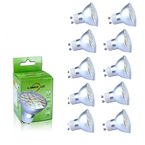 Lampaous Lot de 10 ampoules LED dimmable Gu10 Blanc froid 50 W 450 lumens