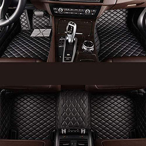 Decoración del coche Alfombrillas de coche personalizadas para BMW X5 E70 de 5 asientos 2008-2013, revestimientos de cuero para el piso de la fila delantera y trasera con revestimiento completo, almoh