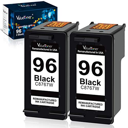Valuetoner Remanufactured Ink Cartridge Replacement for HP 96 C9348FN C8767WN (2 Black) 2 Pack