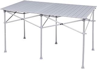 アイリスプラザ ロールテーブル アウトドア 幅120×奥行70×高さ70~39cm