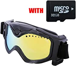 $79 » Ski-Google Camera HD 720P WiFi Goggles Sports Camera Colorful Double Anti-Fog Lens for Ski Image Video Monitoring with Micro 32 GB