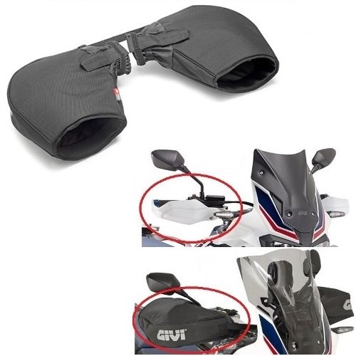 Givi TM421 - Manoplas Protectoras para Moto, para manillares con paramanos Acolchados,...