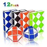 Nasharia 12 Pack 24 Blöcke Mini Schlange Würfel, Magische Schlange Twist Puzzle, Magische...