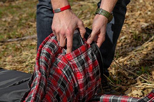 TETON Sports 18 Degree C Flannel Lined Left Zip Saco de Dormir con Cremallera Izquierda y Forro de Franela, Color Azul… 2