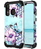 Casetego Compatible with Galaxy A20/A30/A50 Case,Floral Three...
