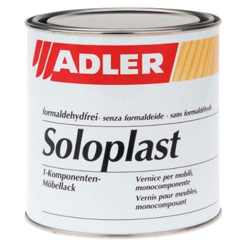 ADLER Soloplast STQ - 750 ml seidenmatt - Erstklassiger Klarlack zum Möbel lackieren - Holzlack farblos