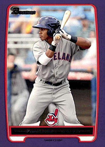 2012 Bowman Prospects Retail PURPLE Francisco Lindor Cleveland Indians Baseball Rookie Card #BP3
