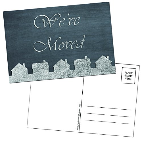 We've Moved Chalkboard Themed 4x6 Postcards - 50 Per Pack