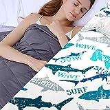 Gewichtsdecke mit Bettbezug,4.5kg Weighted Blankets für das Körpergewicht 49-63kg für Kinder Autismus Schlaflosigkeit Angst Adhs-Linderung,122x183cm,Weiß