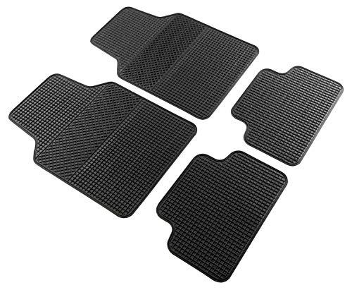 Car Comfort Walser Universal Auto Gummimatten Set EVO, Antirutschmatten 4-teilig, zuschneidbare Fußmatten für PKW schwarz 28038