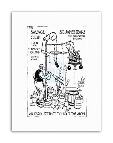 Wee Blue Coo LTD Sir James Jeans Savage Club Invitation Heath Robinson Poster Canvas Art Prints