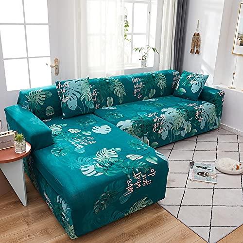 ASCV Funda de sofá para sofá de Todos los tamaños Funda de sofá elástica Universal para Sala de Estar Protector de Cubierta Decorativa A7 2 plazas
