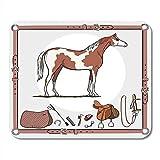 Gjid Tapis de Souris Outil d'équitation d'équitation dans la Ceinture en Cuir Bridon Étrier Brosse Bits...