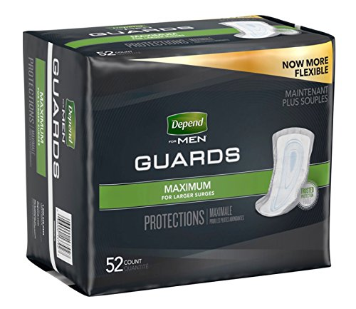 Depends Incontinence Guards for Men - Maximum Absorbency