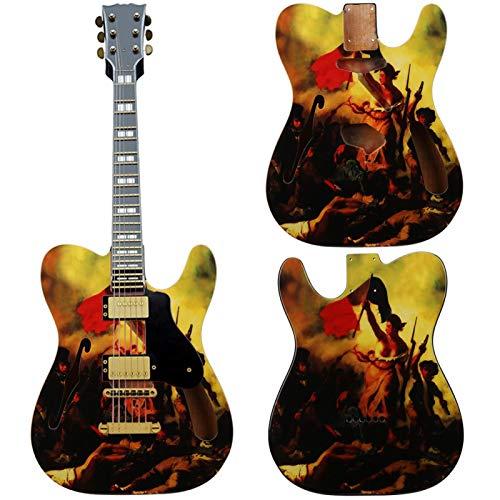 Cuerpo de guitarra eléctrica pintado en madera para guitarristas y entusiastas del bricolaje para practicar y coleccionar