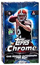 top rated NFL 2014 Topps Chrome Football Hobby Box (24 packs, 1 sign per box) 2021