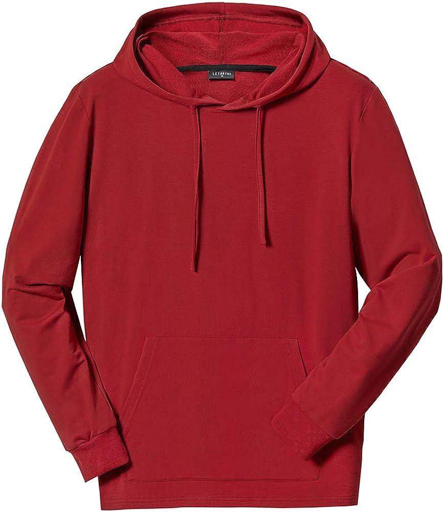 SPOFOR Men's Big & Tall Pullover Hoodies Athletic Casual Drawstring Sweatshirts