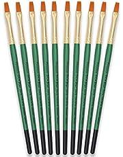 Tristar Serie 104 borstel, plat, nr. 6, goudkleurige handgreep, 10 stuks