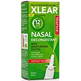 Xlear 12-Hour Decongestant Nasal Spray with Oxymetazoline & Xylitol, Instant Relief All-Na...