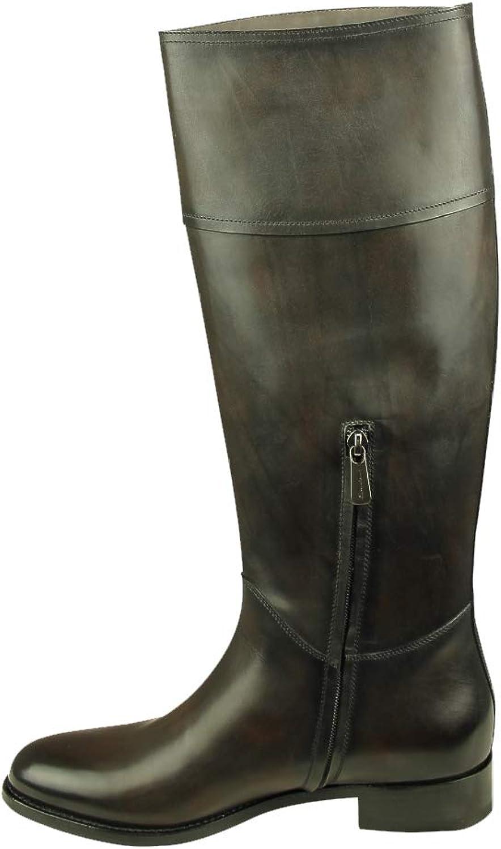 Damen Stiefel UVP 765,- sportlicher Reiterstiefel in Dunkelbraun 7530