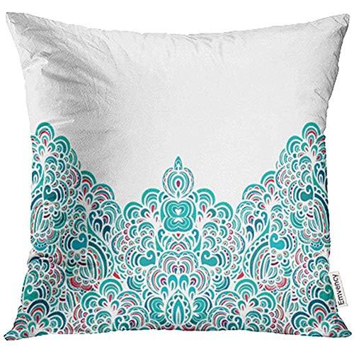 WHEYT Fodere per Cuscini per Cuscino Rosa Batik Pattern Indonesia Patchwork Marocchino Etro Portogallo Iranian 40X40 Cm Cover