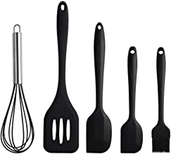 Silicone Kitchen Utensils Set (5 Piece), Cooking And Baking Tools,High Heat Resistant To 450°F,Including Brush,Egg Beater,...