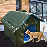 Heated Cat House, Thickened Outdoor Heated Pet House Waterproof Foldable Cat Nest Tent Cabin Outdoor Kitty House Cat Shelter For Cat Or Small Dog Foldable Cat Cave Bed For Winter