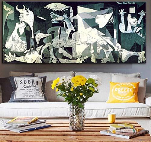 Kits de Pintura de Diamantes DIY 5D Grande Taladro Completo Reproducciones de obras de arte de Picasso Bordado de punto de Cruz Diamond Painting para el hogar Decoración -Round Drill,28x56inch