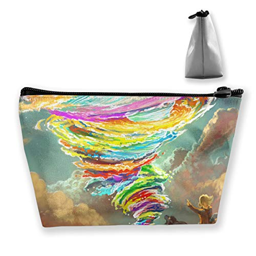Wild Boar Colorful Tornado Tractors Sky Makeup Train Case Portable Makeup Bag Cosmetic Case Large