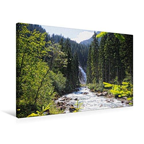 CALVENDO Premium Textil-Leinwand 75 x 50 cm Quer-Format Krimmler Wasserfälle im Salzburger Land (Österreich), Leinwanddruck von Anja Frost