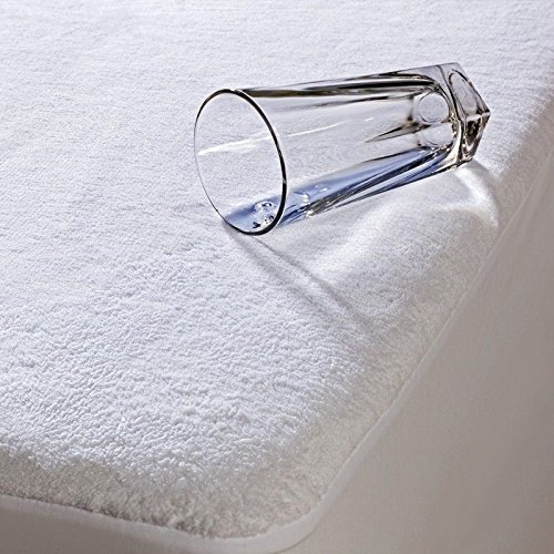 Casabella New Waterproof Terry Towel Matress Protector Fitted Sheet Bed Cover All Sizes_White_Double