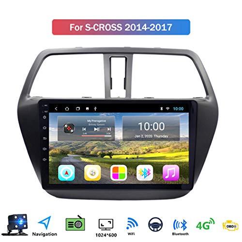 Buladala Android 8.1 Quad Core Navigatore GPS Autoradio Stereo per Suzuki S-Cross 2014-2017, con 9'' LCD/Multi Media Player, Supporto WLAN USB AV-out/Chiamate Bluetooth,4g+WiFi: 1+16gb
