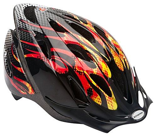 Product Image of the Schwinn Thrasher Bike Helmet, Lightweight Microshell Design, Child, Flames