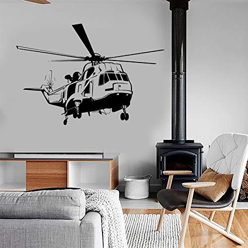 Helicóptero ejército fuerza aérea etiqueta de la pared decoración del hogar diseño habitación de adolescentes niños dormitorio ejército calcomanías murales cartel de pared A4 83x57cm