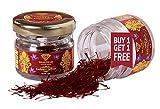 Roseate Shalimar Ayurveda® (Buy 1 Get 1 Free) Natural & Pure Original Kashmiri Kesar/ Saffron Premium Organic Quality (2 Pack of 1 Gram) 2 Gram Kesar