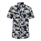 Verano para Hombre De Manga Corta De AlgodóN De Playa Camisas Hawaianas De AlgodóN Casual Floral Retro Camisas De Talla Grande 3XL Ropa De Moda para Hombre
