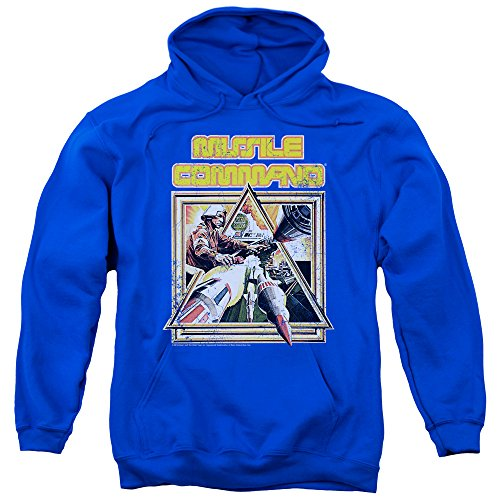 Atari Missle Command Unisex Hoodie, Royal Blue, S to 3XL