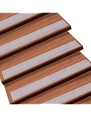 Queta Tiras antideslizantes con rodillo de instalación para escalera y peldaño, 15 rollos, transparente 15 x 60cm Transparente
