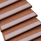 Queta Antirutschstreifen Treppe Set Rutschfest Stufenmatten Transparent Rutsch Streifen Treppenstufen Matten Rutschschutz 15 Rollen Transparente Antirutschstreifen mit Installationsrolle (15 x 80cm)