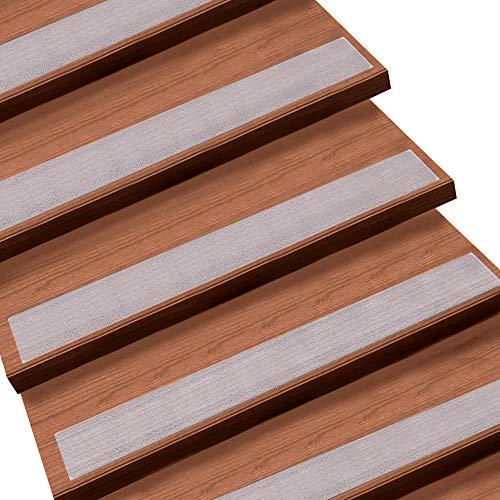 Queta Antirutschstreifen Treppe Set Rutschfest Stufenmatten Transparent Rutsch Streifen Treppenstufen Matten Rutschschutz 15 Rollen Transparente Antirutschstreifen mit Installationsrolle (15 x 60cm)