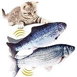 Hywean 2 Stück elektrische Fische Katze,katzenminze Fisch Spielzeug,katzenspielzeug Fisch elektrisch beweglich,Simulation Fisch