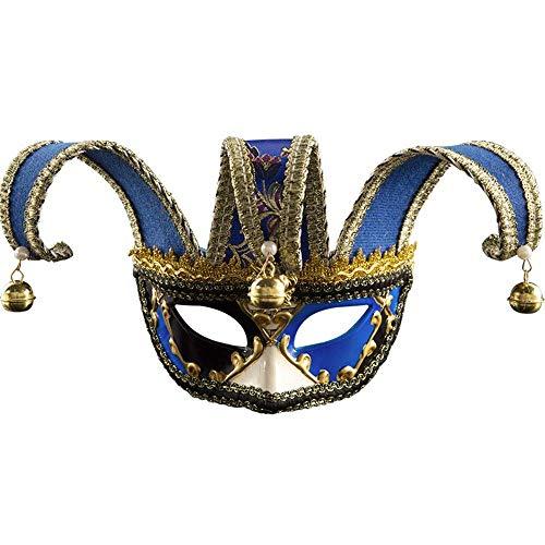 DealMux Masquerade Mask Masquerade Mask Nightclub Music Revelry Mask Atmósfera Fiesta de Navidad Cosplay Máscara de plástico para el baile de graduación Máscara de disfraces de Halloween (Color: Red,