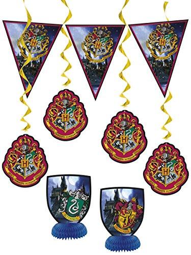 COOLMP – Juego de 6 Piezas de decoración de Harry Potter – Talla única – Decoración y Accesorios de Fiesta, animación, cumpleaños, Boda, Evento, Juguete, Globo