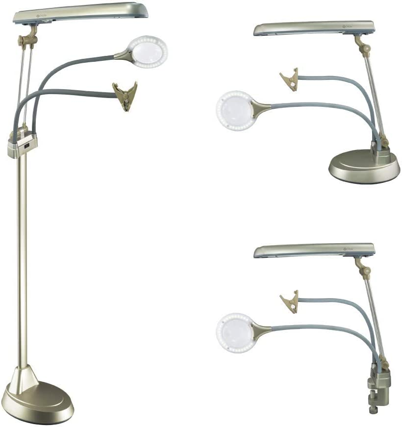 OttLite Ultimate 3-in-1 Translated Fort Worth Mall Craft Lamp Table Watt 24 L Floor