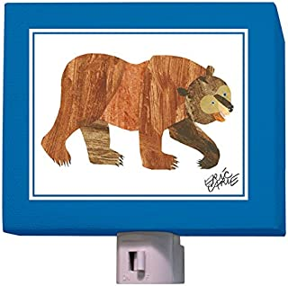 Oopsy Daisy Eric Carle's Brown Bear Night Light, Blue/Brown, 5