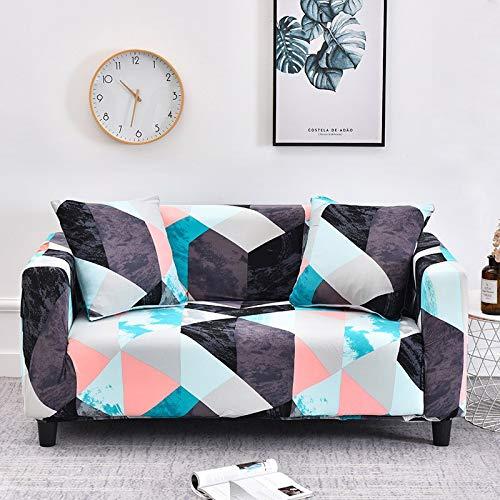 Fundas de sofá universales elásticas geométricas para Sala de Estar Estiramiento Antideslizante Funda de sofá Funda de sofá Protector de Silla Antipolvo A11 3 plazas